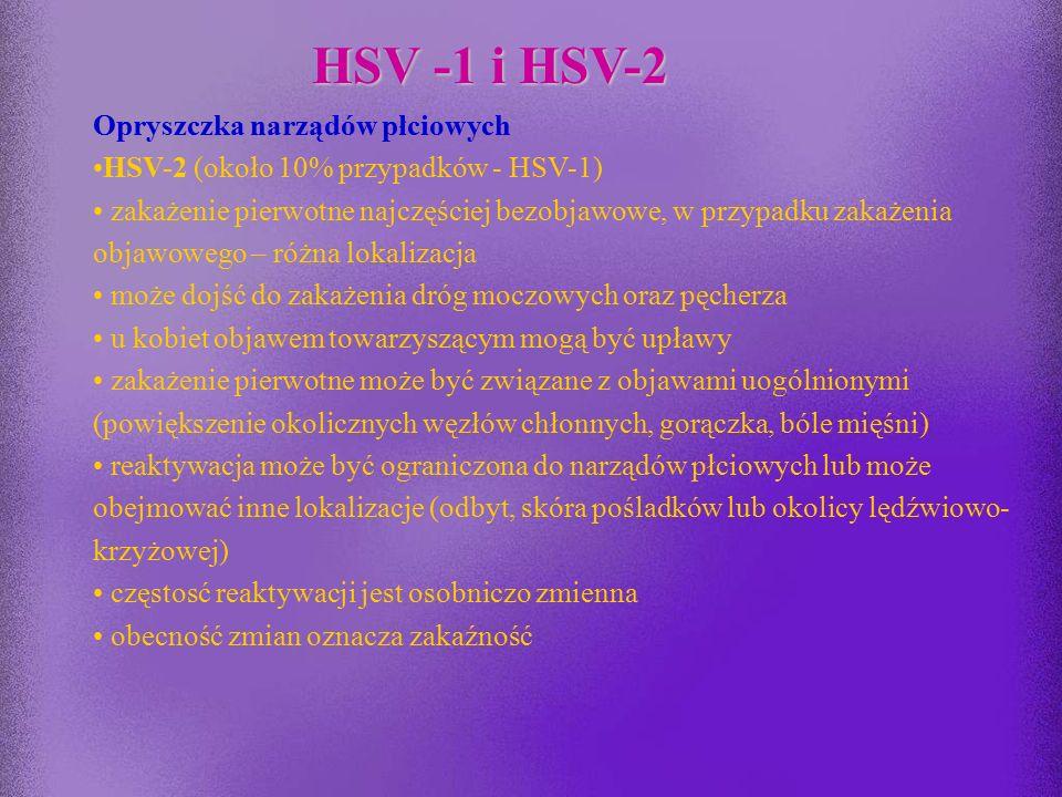 HSV -1 i HSV-2 Opryszczka narządów płciowych