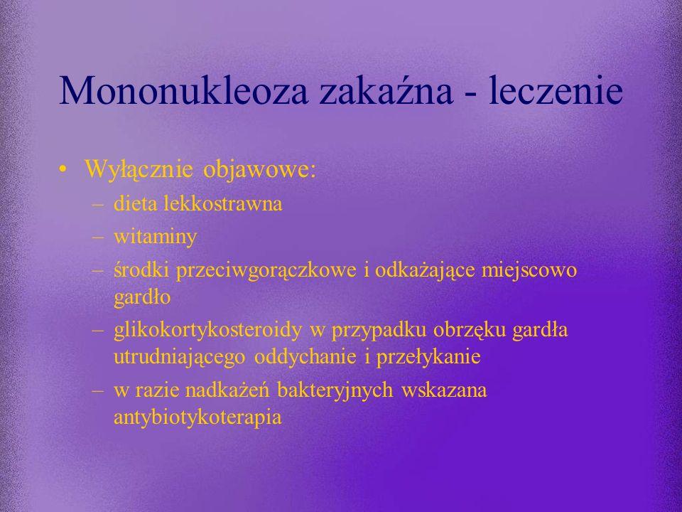 Mononukleoza zakaźna - leczenie
