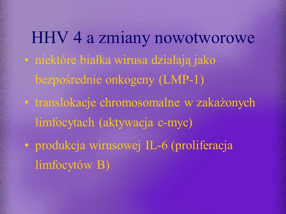 HHV 4 a zmiany nowotworowe