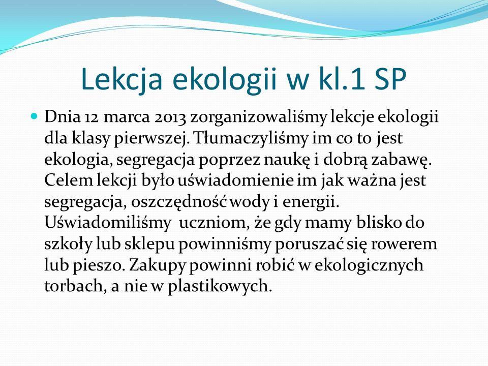 Lekcja ekologii w kl.1 SP