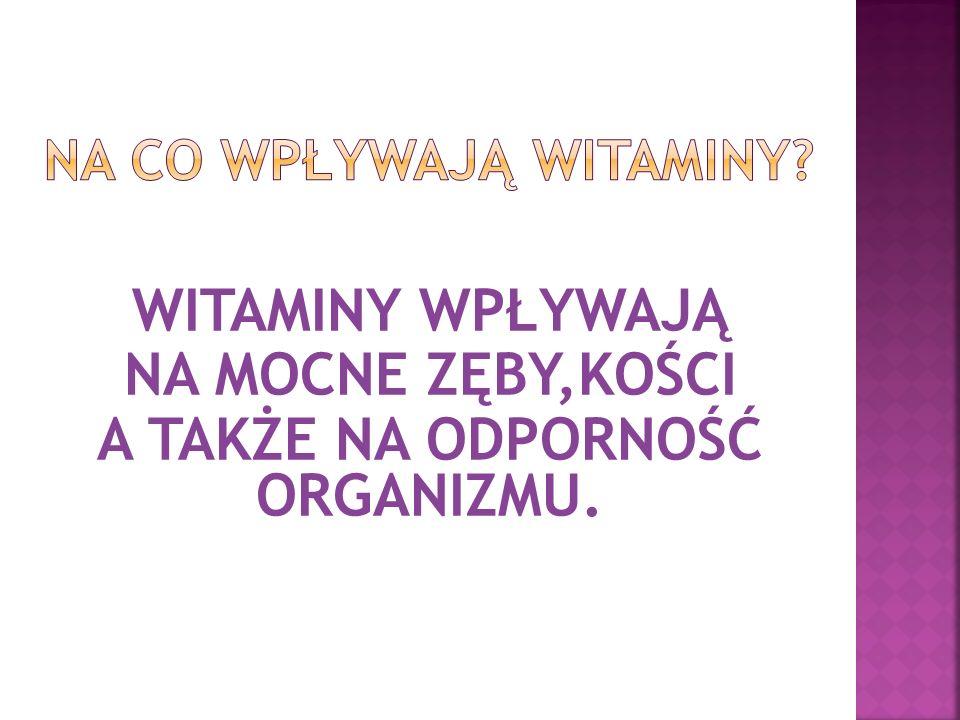 NA co wpływają witaminy