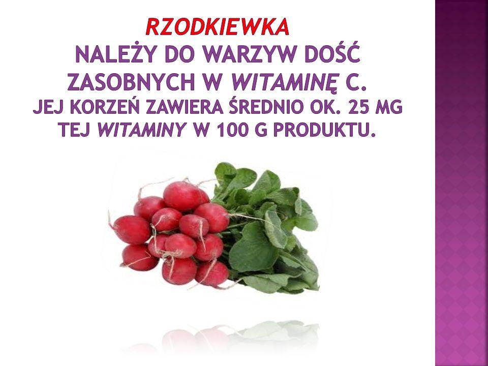 Rzodkiewka należy do warzyw dość zasobnych w witaminę C