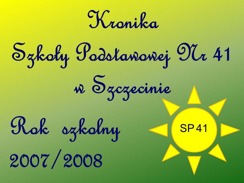 Kronika Szkoły Podstawowej Nr 41 w Szczecinie