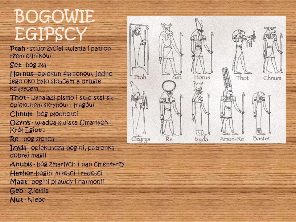BOGOWIE EGIPSCY Ptah - stworzyciel światła i patron rzemieślników