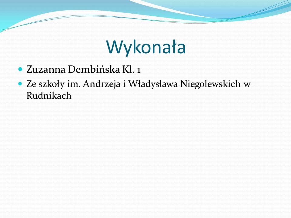 Wykonała Zuzanna Dembińska Kl. 1
