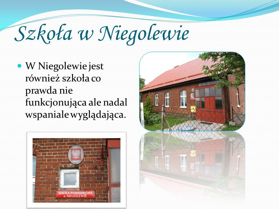 Szkoła w Niegolewie W Niegolewie jest również szkoła co prawda nie funkcjonująca ale nadal wspaniale wyglądająca.