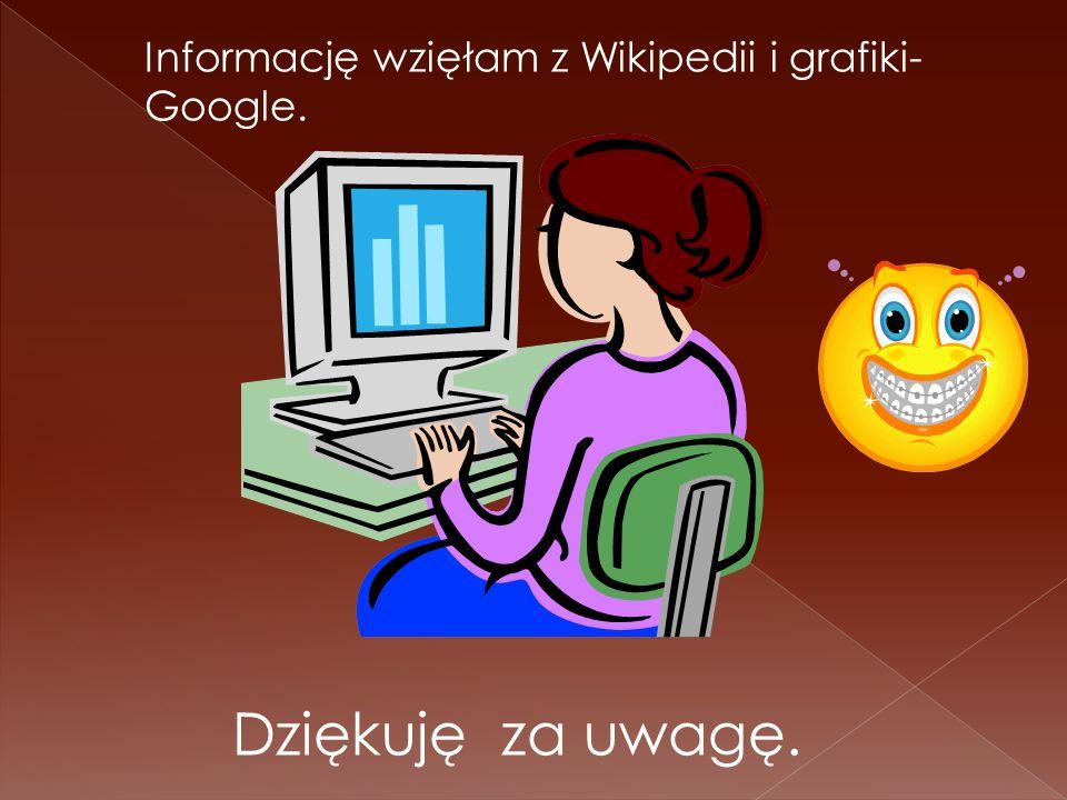 Informację wzięłam z Wikipedii i grafiki-Google.