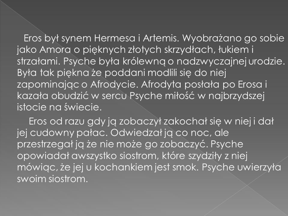 Eros był synem Hermesa i Artemis