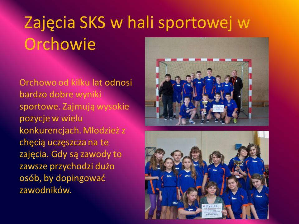 Zajęcia SKS w hali sportowej w Orchowie