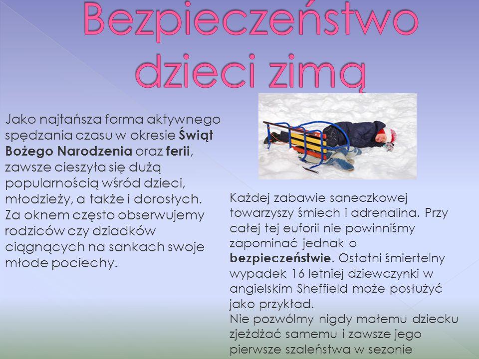 Bezpieczeństwo dzieci zimą