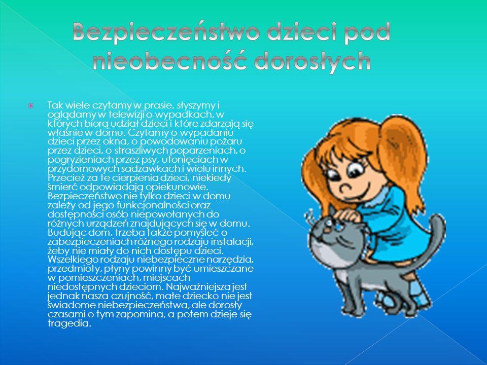 Bezpieczeństwo dzieci pod nieobecność dorosłych