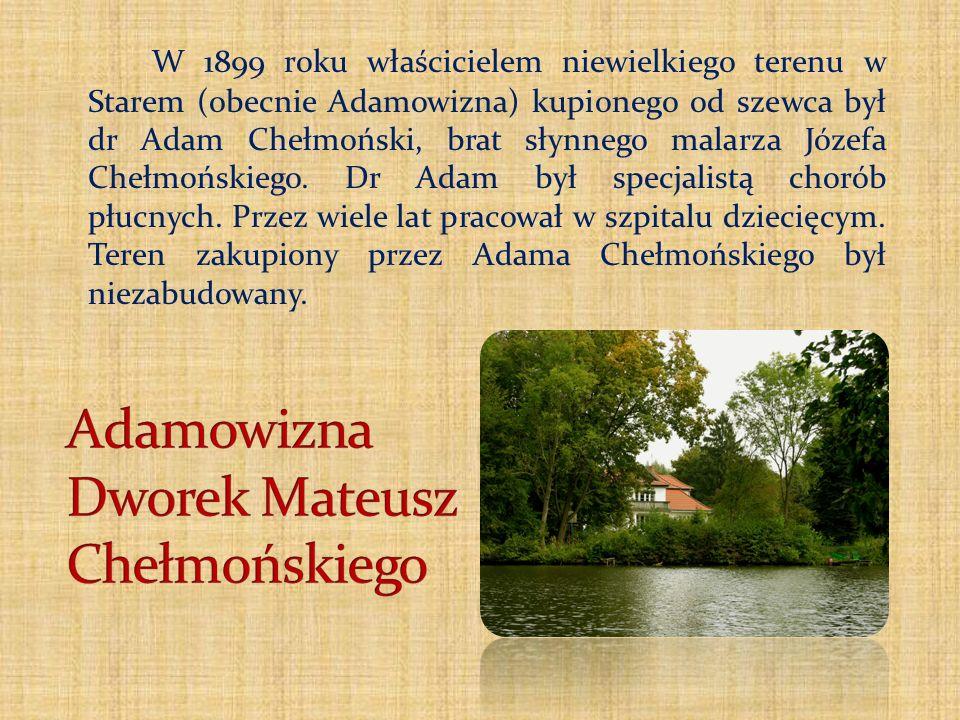 Adamowizna Dworek Mateusz Chełmońskiego