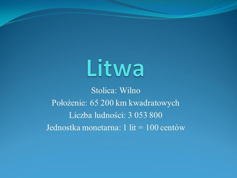Litwa Stolica: Wilno Położenie: 65 200 km kwadratowych