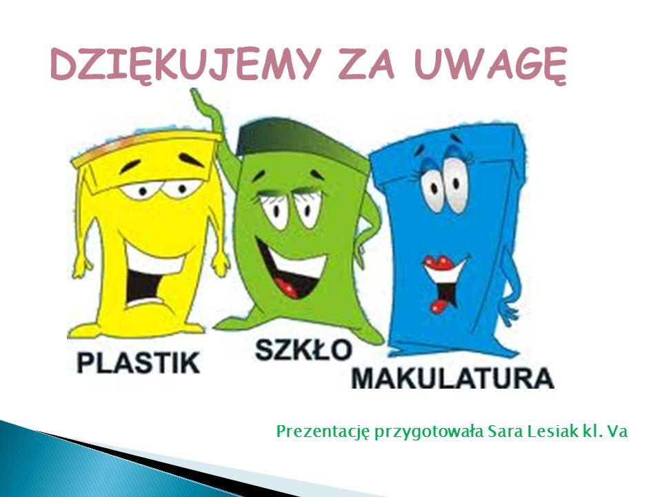 DZIĘKUJEMY ZA UWAGĘ Prezentację przygotowała Sara Lesiak kl. Va