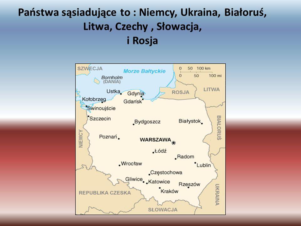 Państwa sąsiadujące to : Niemcy, Ukraina, Białoruś, Litwa, Czechy , Słowacja, i Rosja