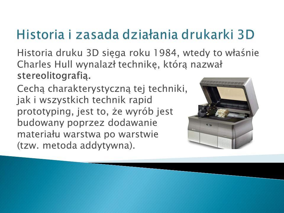 Historia i zasada działania drukarki 3D