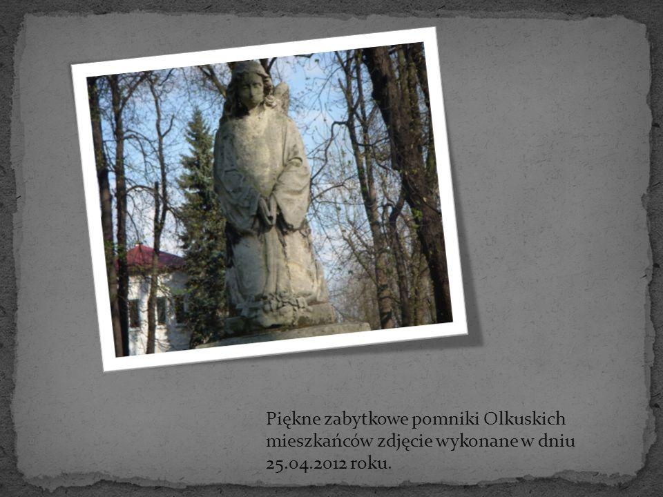 Piękne zabytkowe pomniki Olkuskich mieszkańców zdjęcie wykonane w dniu 25.04.2012 roku.