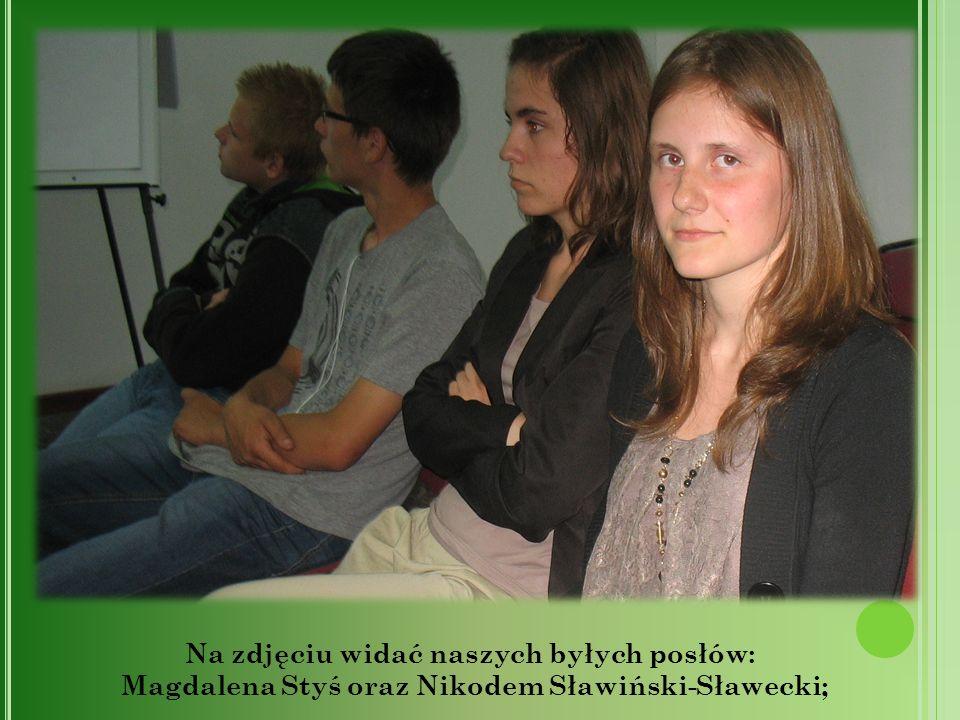 Na zdjęciu widać naszych byłych posłów: