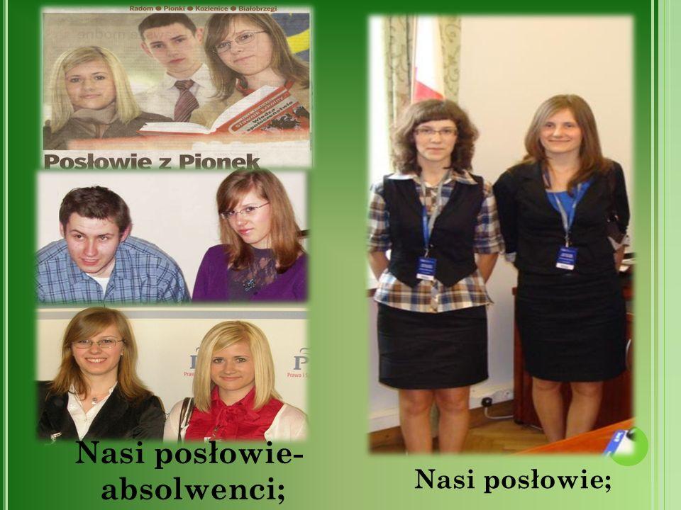 Nasi posłowie- absolwenci;