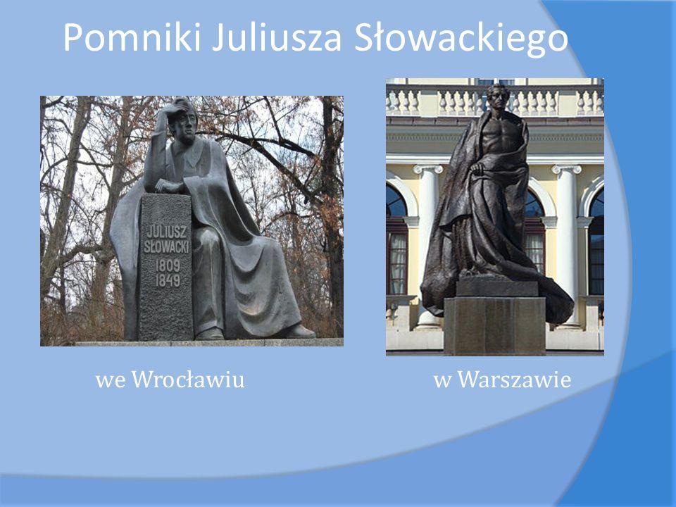 Pomniki Juliusza Słowackiego