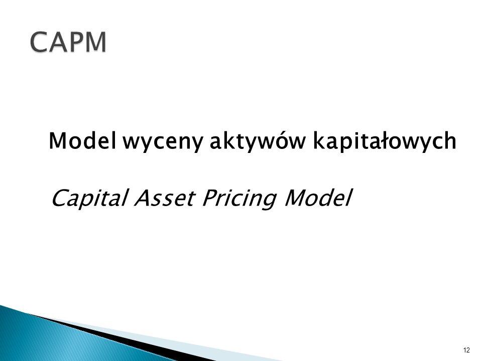 CAPM Model wyceny aktywów kapitałowych Capital Asset Pricing Model