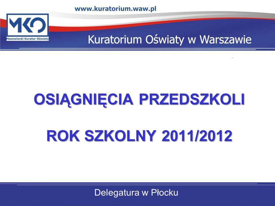 OSIĄGNIĘCIA PRZEDSZKOLI ROK SZKOLNY 2011/2012