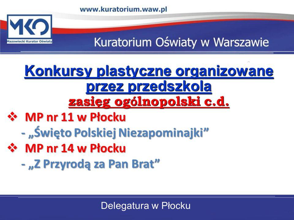 Konkursy plastyczne organizowane przez przedszkola zasięg ogólnopolski c.d.