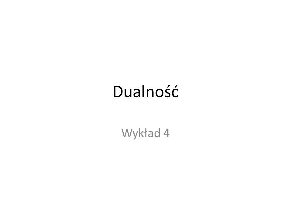 Dualność Wykład 4