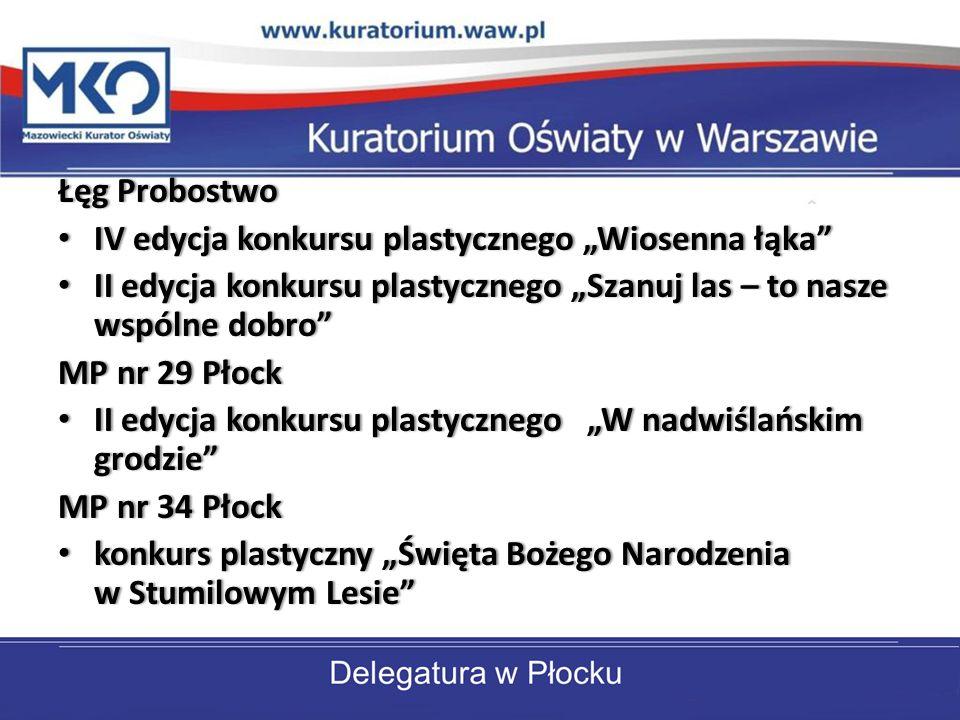 """Łęg Probostwo IV edycja konkursu plastycznego """"Wiosenna łąka II edycja konkursu plastycznego """"Szanuj las – to nasze wspólne dobro"""