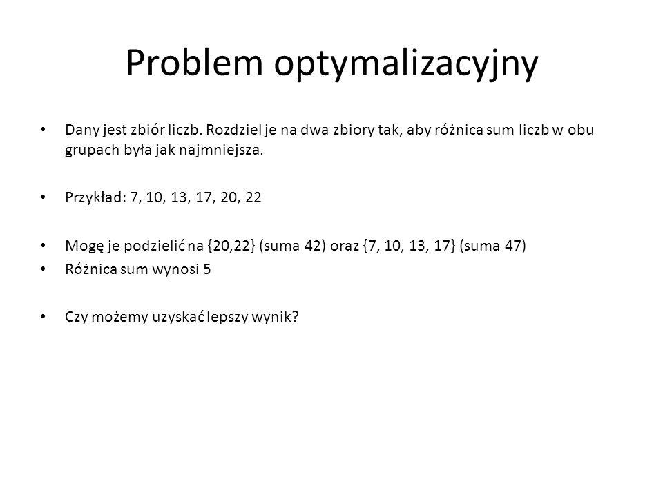 Problem optymalizacyjny