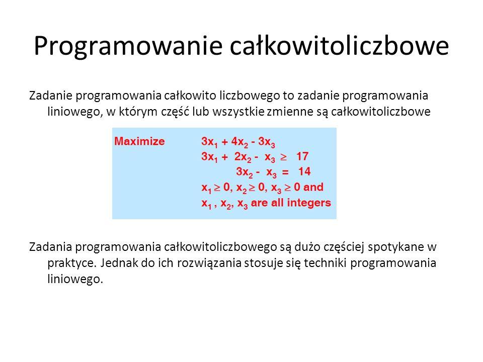 Programowanie całkowitoliczbowe