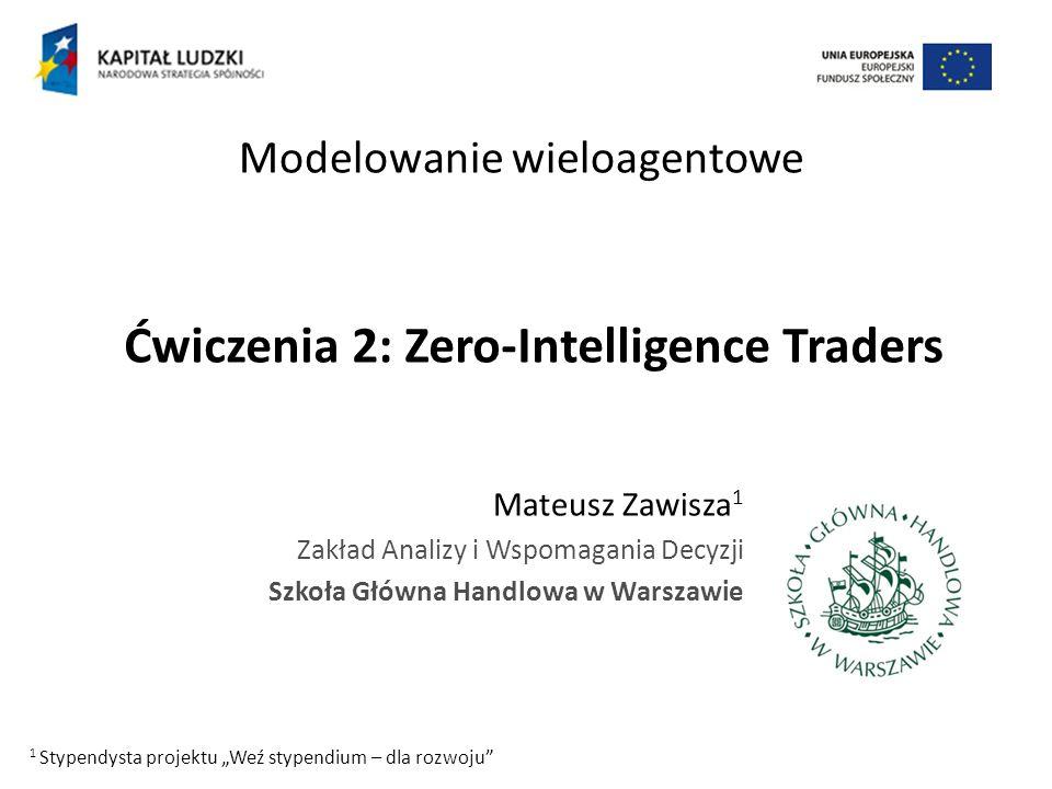 Ćwiczenia 2: Zero-Intelligence Traders