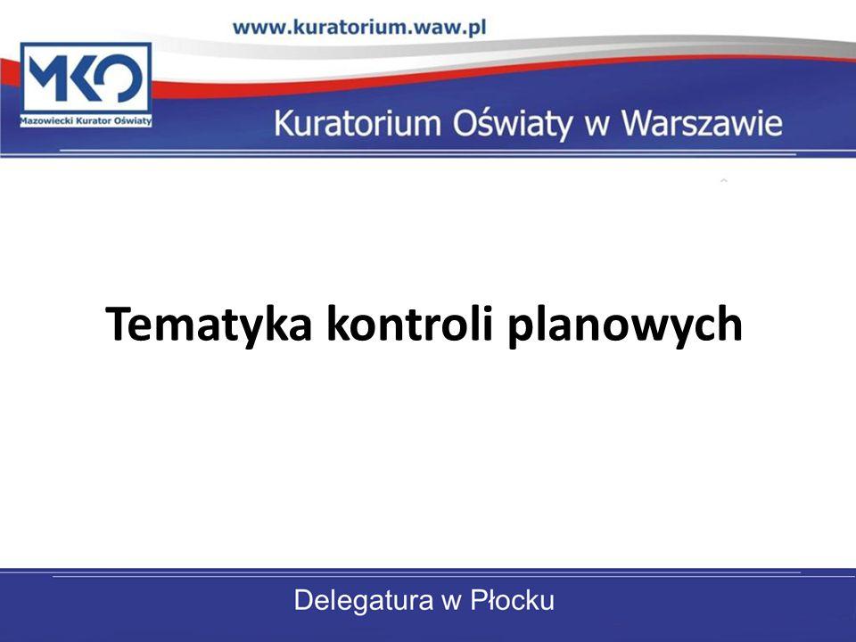 Tematyka kontroli planowych