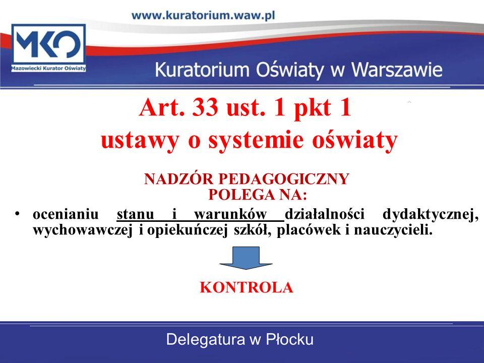 Art. 33 ust. 1 pkt 1 ustawy o systemie oświaty