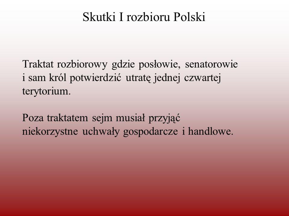 Skutki I rozbioru Polski