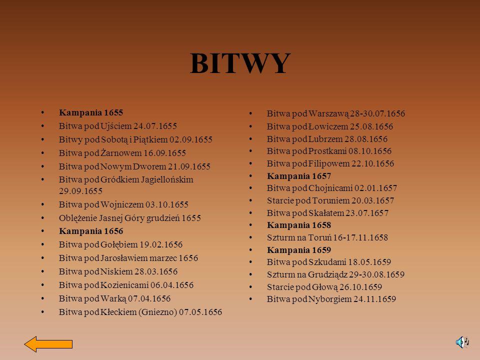 BITWY Kampania 1655 Bitwa pod Ujściem 24.07.1655