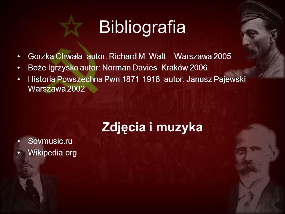 Bibliografia Gorzka Chwała autor: Richard M. Watt Warszawa 2005