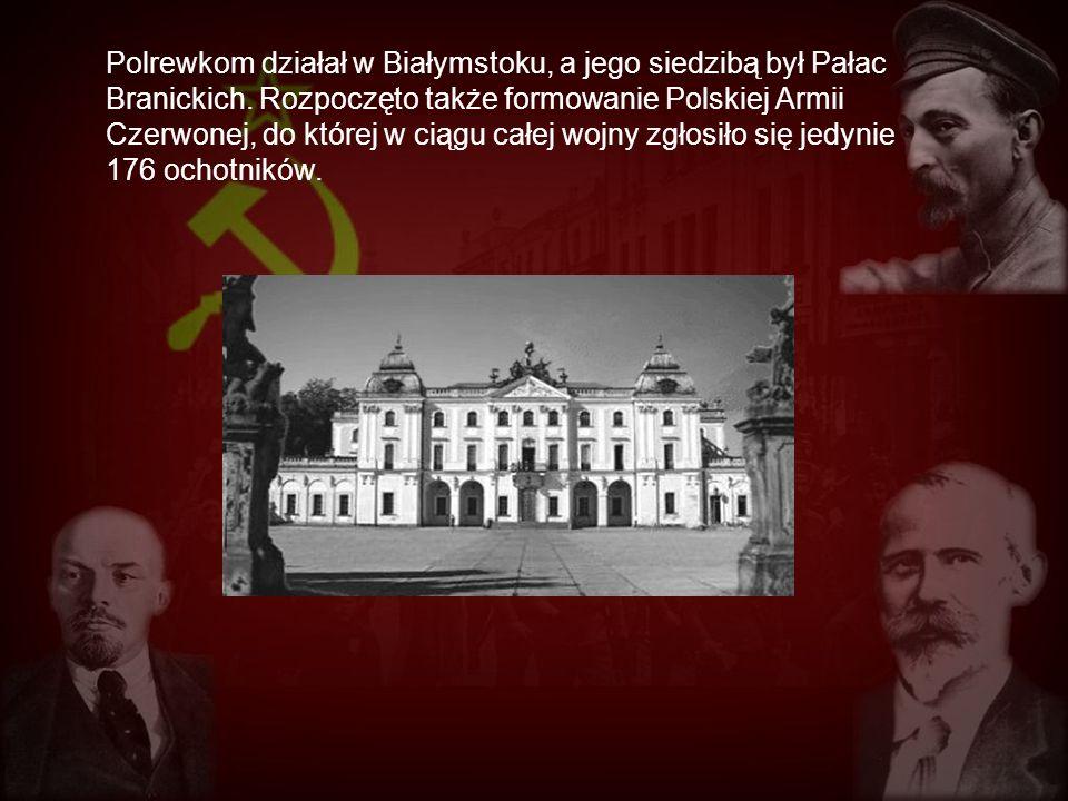 Polrewkom działał w Białymstoku, a jego siedzibą był Pałac Branickich