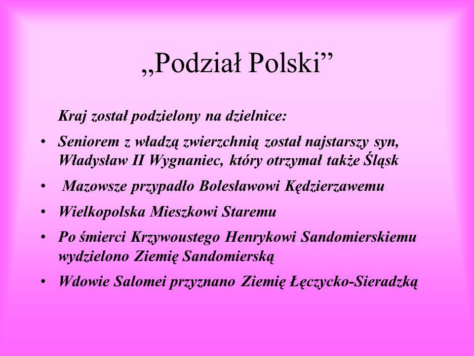 """""""Podział Polski Kraj został podzielony na dzielnice:"""