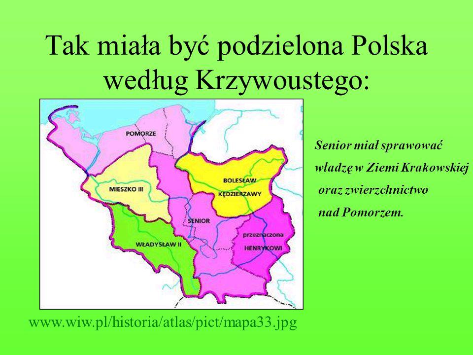 Tak miała być podzielona Polska według Krzywoustego: