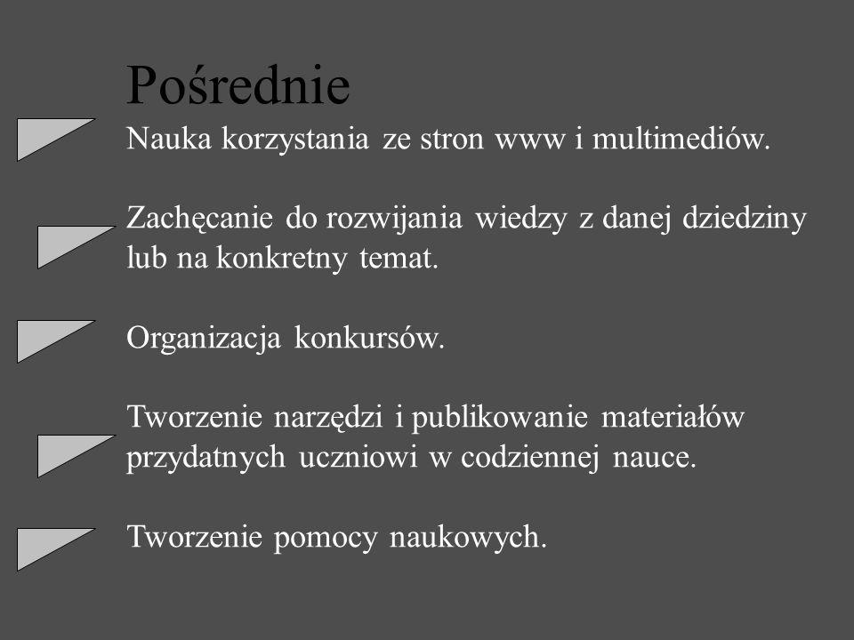 Pośrednie Nauka korzystania ze stron www i multimediów.