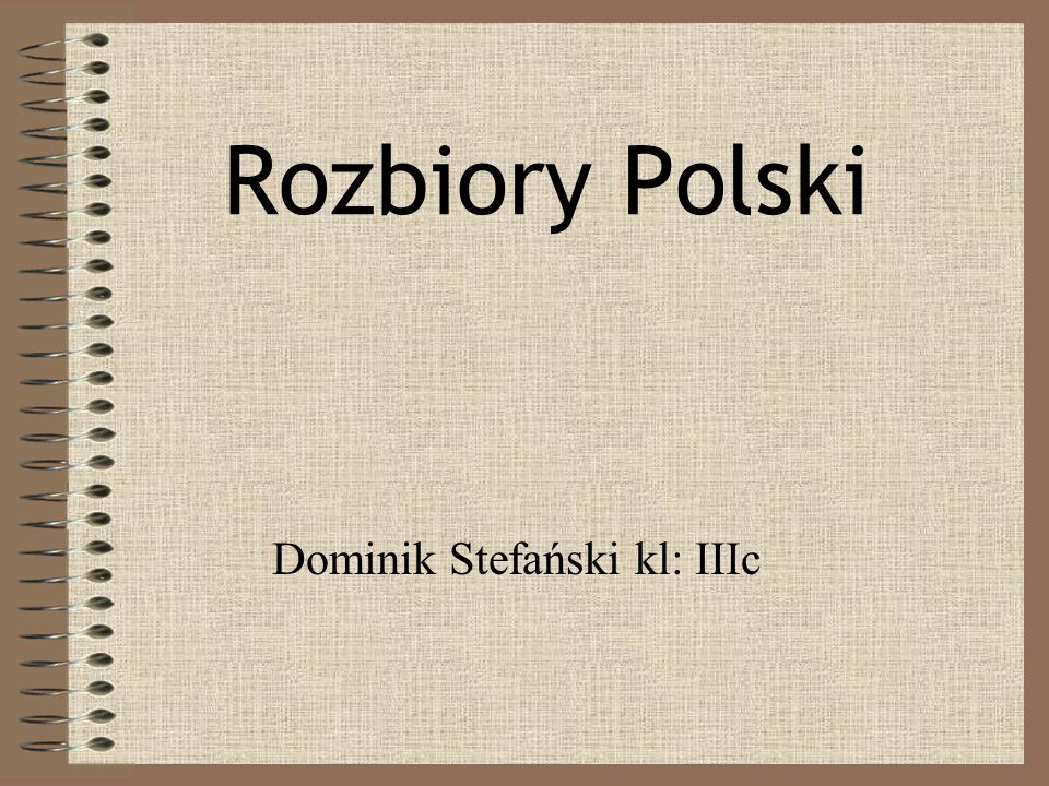 Dominik Stefański kl: IIIc