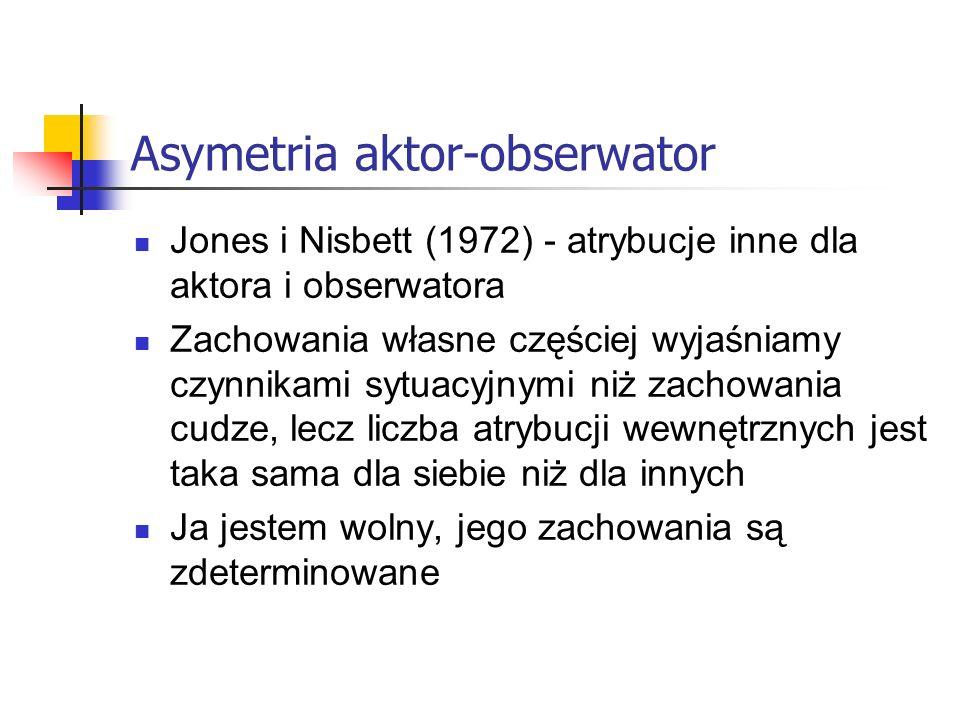 Asymetria aktor-obserwator