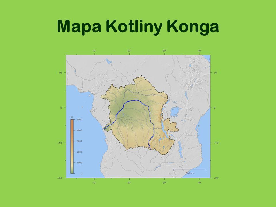Mapa Kotliny Konga
