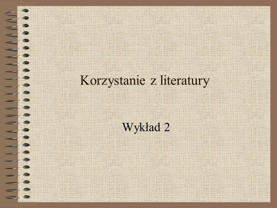 Korzystanie z literatury