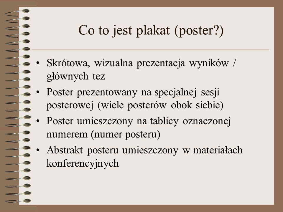 Co to jest plakat (poster )