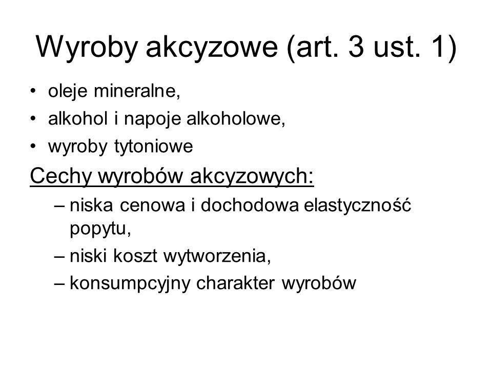 Wyroby akcyzowe (art. 3 ust. 1)