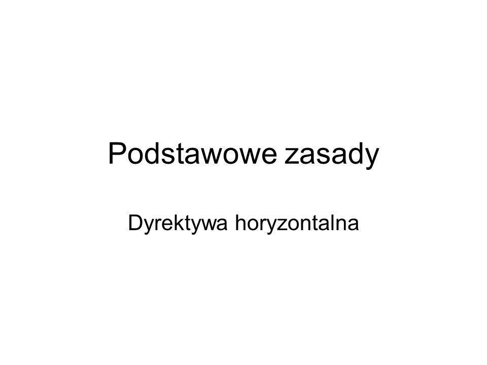 Dyrektywa horyzontalna