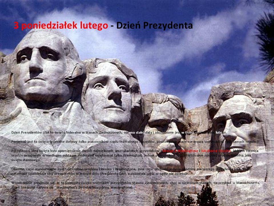 3 poniedziałek lutego - Dzień Prezydenta