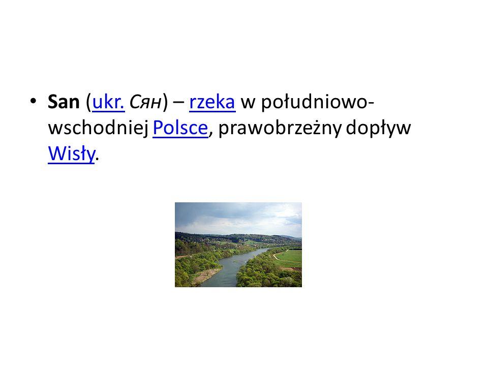San (ukr. Сян) – rzeka w południowo-wschodniej Polsce, prawobrzeżny dopływ Wisły.